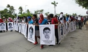 March to demand the return of 43 missing Mexican youths