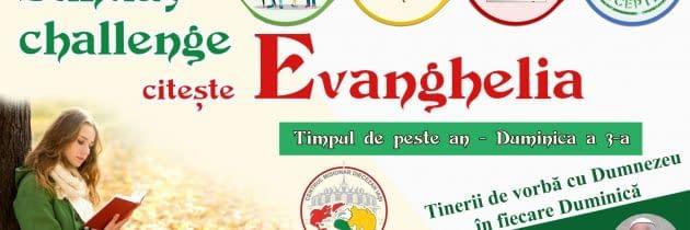 #SundayChallengeEvanghelia – Duminica a 3-a din Timpul de peste an